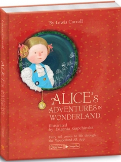 "Книга ""Alice's Adventures in Wonderland"",  