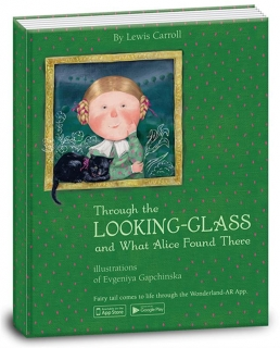 "Книга ""Through the looking-glass and what Alice found there. Алиса в зазеркалье"",  