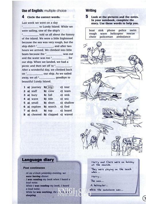 solutions elementary workbook ответы на задания 7 класс