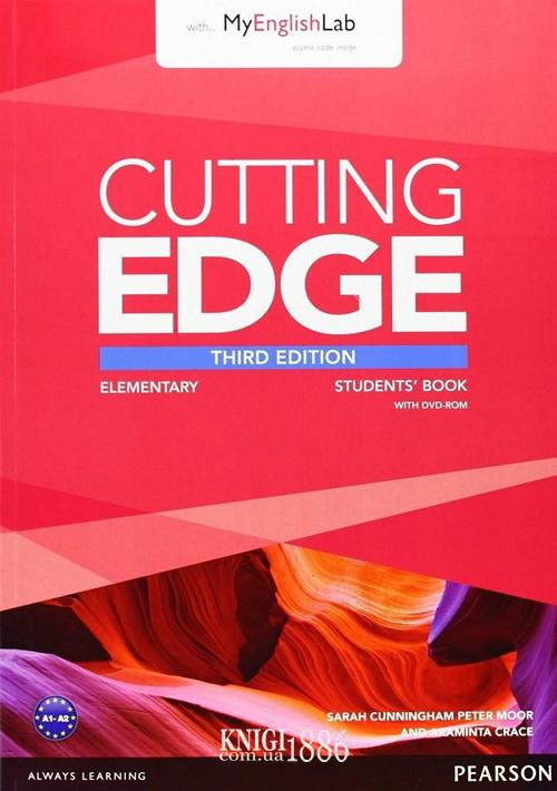 Учебник с DVD «Cutting Edge», уровень (A1) Elementary, Saran Cunningham, Peter Moor, Jonatan Bygrave | Pearson-Longman