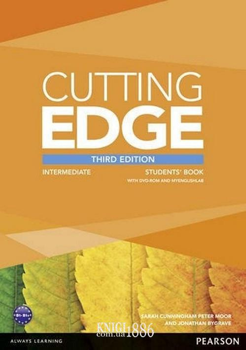 Учебник с DVD «Cutting Edge», уровень (B1) Intermediate, Saran Cunningham, Peter Moor, Jonatan Bygrave | Pearson-Longman