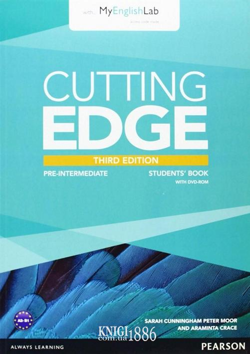 Учебник с DVD «Cutting Edge», уровень (A2) Pre-Intermediate, Saran Cunningham, Peter Moor, Jonatan Bygrave | Pearson-Longman